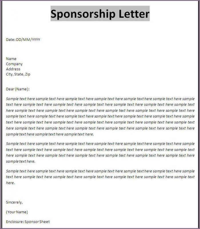 sample sponsorship letter