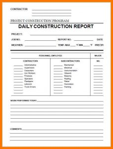 sample subcontractor agreement construction daily report daily construction report template in pdf