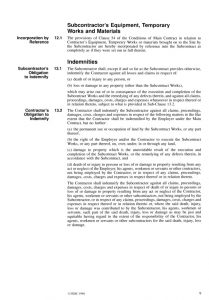 sample subcontractor agreement fidic conditions of subcontract agreement