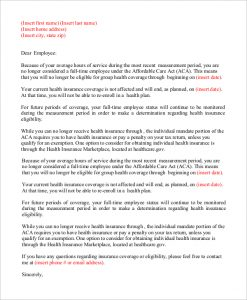 sample termination letter for cause health insurance termination letter