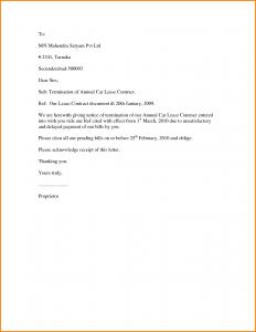 sample termination letter termination letter sample