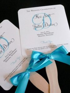 sample wedding program decorazioni matrimonio estivo ventaglio