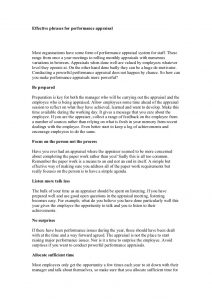 samples employee evaluations effective phrases for performance appraisal