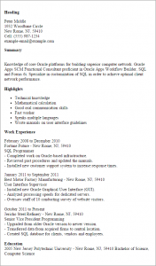 samples functional resumes oracle apps scm functional consultant