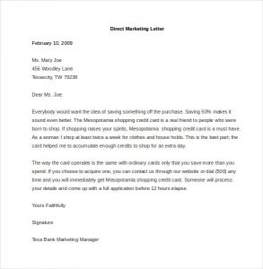 samples fundraising letters sample direct marketing letter