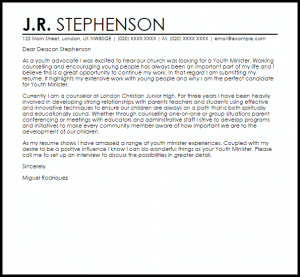 samples of letters of recommendation youth minister
