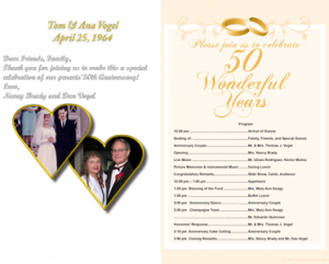 samples of wedding programs anniversary program