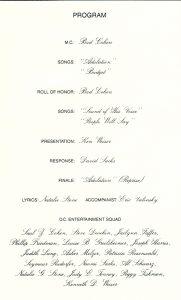 samples of wedding programs sacks program