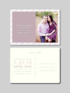 save the date postcard template il xn