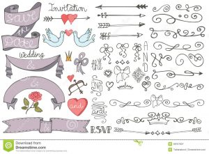 save the date templates free download doodle wedding ribbons swirl borders decor set doodles border love elements design templates invitations save date rsvp hand