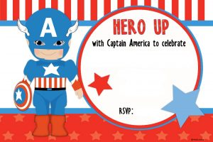 save the date templates free download free printable captain marvel birthday invitation