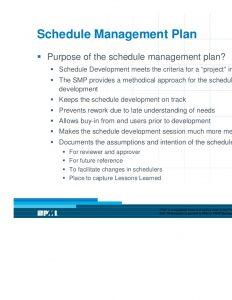 schedule management plan design amp development of a schedule management plan presentation
