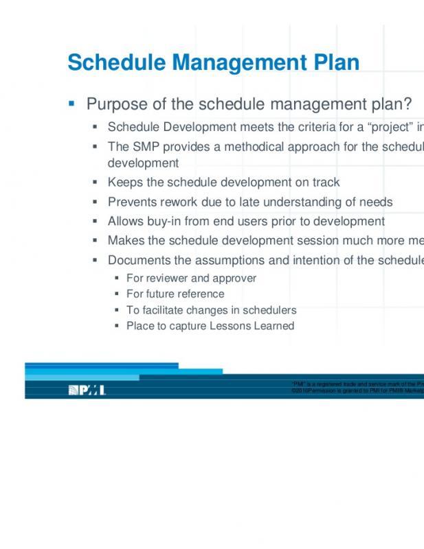 schedule management plan