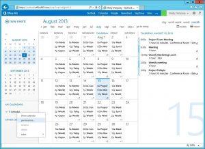 schedule template word owa delegate