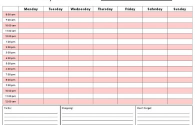 schedule template word weekly calendar by hour printable hourly daily calendar template kvhsro