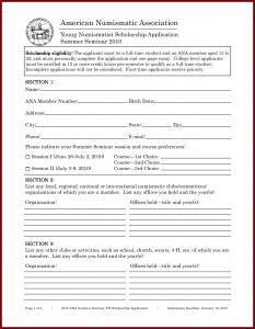 scholarship application template scholarship application template sample