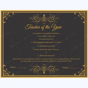 scholarship certificates templates teacher of the year award speech