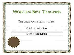 scholarship certificates templates world s best teacher award certificate