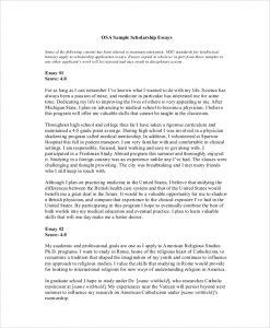 scholarship essay samples formal scholarship essay