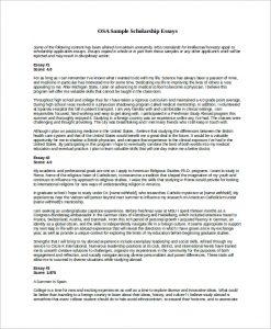 scholarship essay samples sample scholarship essay example