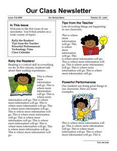 school newsletter templates aadaecfbefd teacher newsletter templates class newsletter