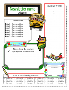 school newsletter templates back to school newsletter