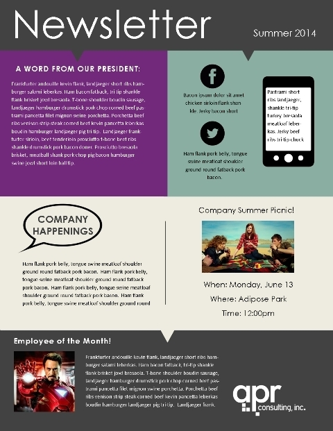school newsletter templates free