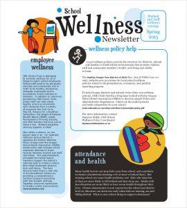 school newsletter templates school wellness newsletter