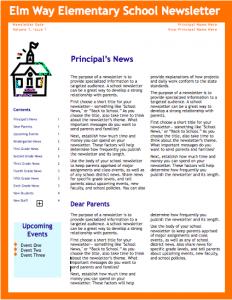 school newsletter templates screen shot at pm