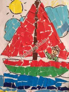 school newspaper template paper collage crafts idea