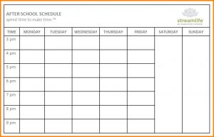 school schedule template school schedule templates after school schedule web image