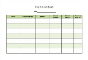 school scheduling templates company daily delivery schedule template pdf download