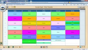 school scheduling templates individual timetable view