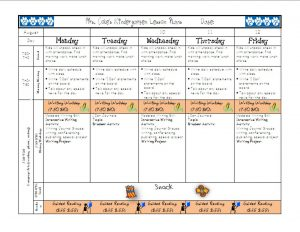 school scheduling templates lesson plan page