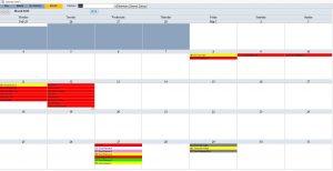 school scheduling templates month
