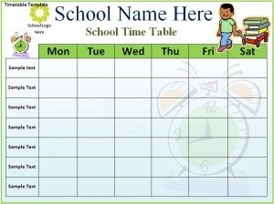 school scheduling templates timetable template x