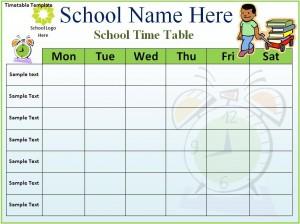 school scheduling templates