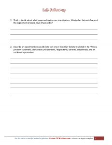 science lab report template awesome science lab investigation report template