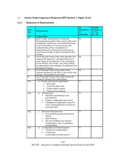 scope of work sample sns pos system rfp response template