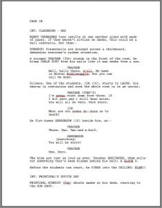screenplay format template screenplay template