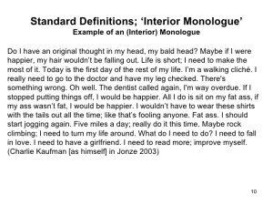 script format example brief history of the interior monologue