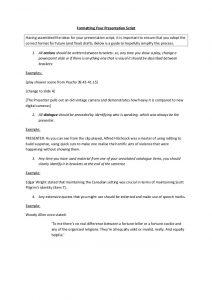 script format example formatting your presentation script