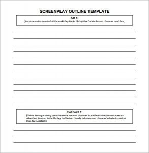 script writing format pdf blank screenplay outline template download pdf