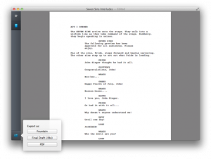 script writing format pdf highland export large