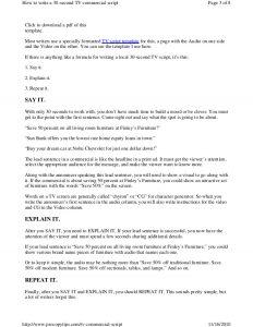 script writing format pdf tv commercialscript