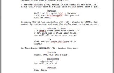 script writing template screenplay template