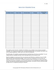 seating chart template word interview scheduleing form
