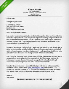 security policy examples police officer cover letter sample