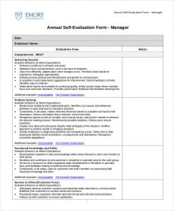 self evaluation examples annual self evaluation sample