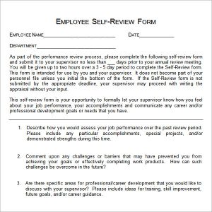self evaluation examples employee self evaluation example